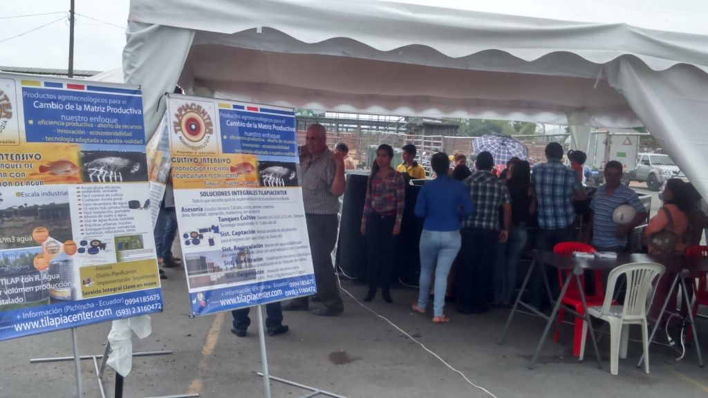 Tilapiacenter exposición Expogan Santo domingo Tsachilas