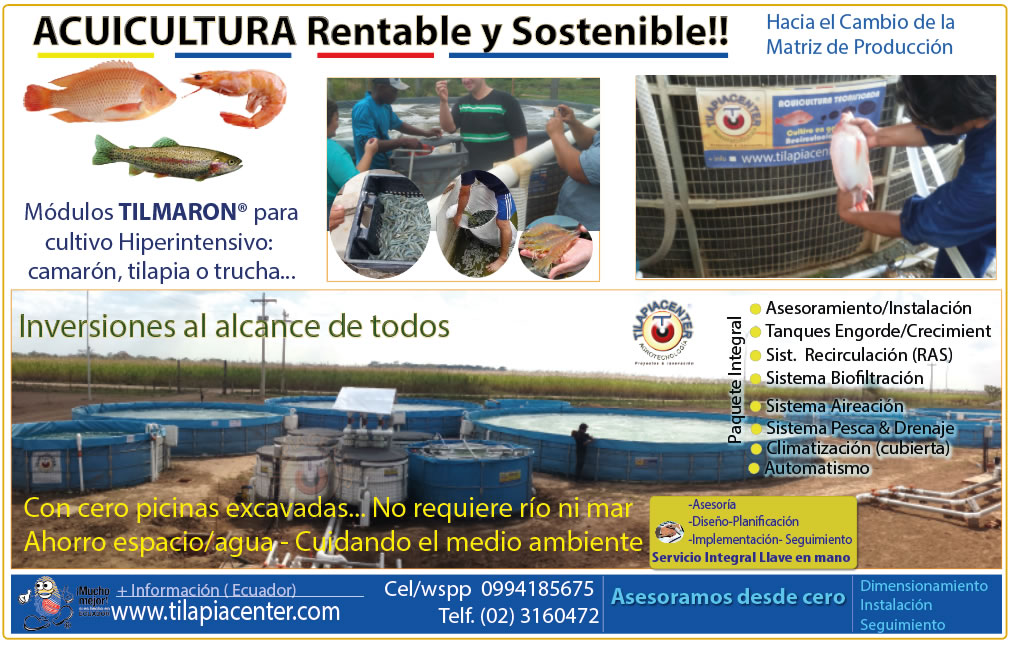 Acuicultura rentable y sostenible Modulos Tilmaron Camaron y tilapia