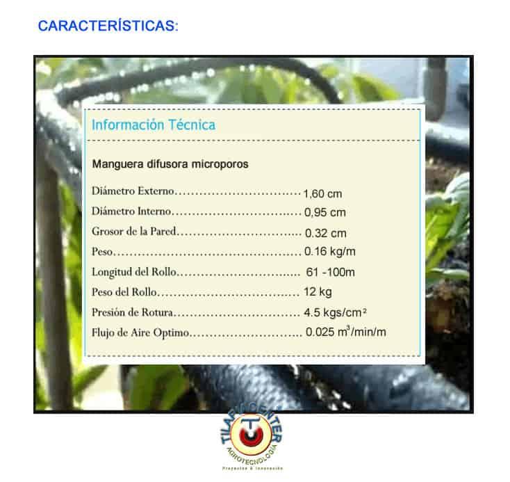 manguera difusora microporosa